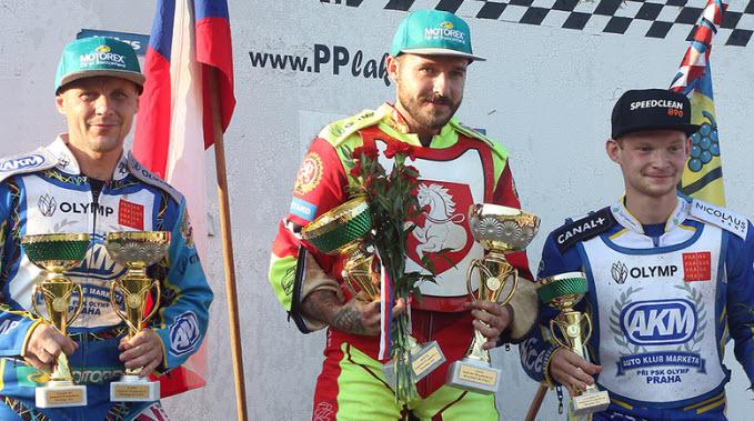 На фото: Вацлав Милик и призеры чемпионата